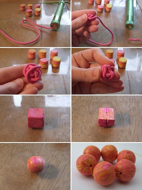 Ball of string round Natasha bead tutorial