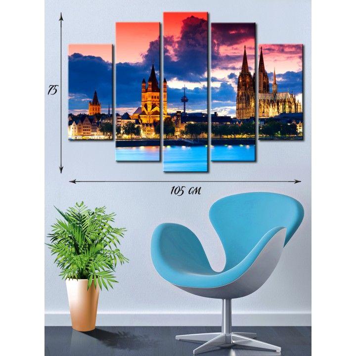 fd2958dc603c Оригинальные модульные картины настенные недорого. Модульная картина на  холсте Городские мотивы купить в Киеве и