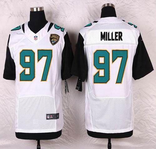 NFL Jacksonville Jaguars Mens Football Jersey Soccer Rugby Jerseys 97 Roy Miller White Elite Jersey