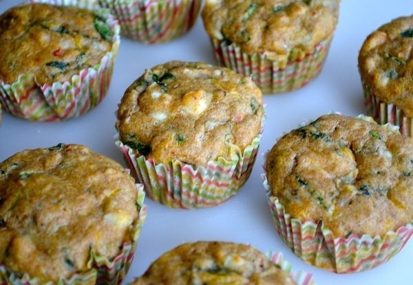 Whole Wheat Spinach & Feta Muffins from Rachel Schultz
