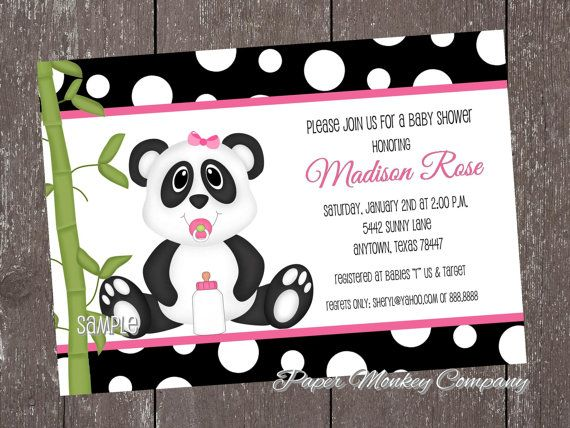 panda party panda baby showers baby party girl shower bridal showers