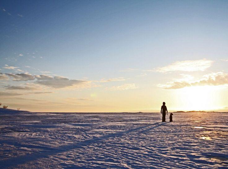 På isen