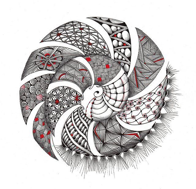 Spiral Zendala by Mariët Dronten, via Flickr