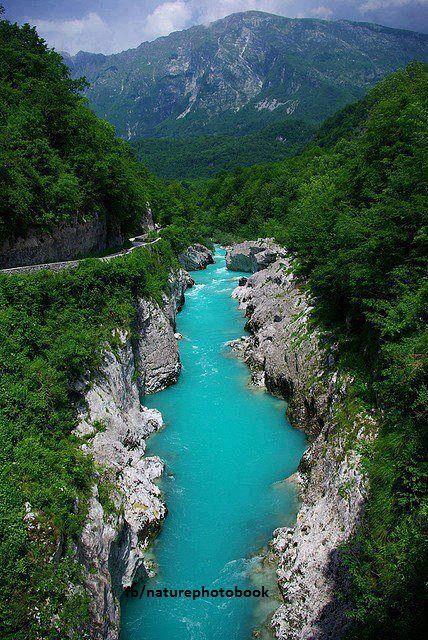 The river Soca, Slovenia