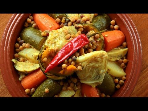 Couscous with Seven Vegetables / كسكس سبع خضار - CookingWithAlia - Episode 423 - YouTube