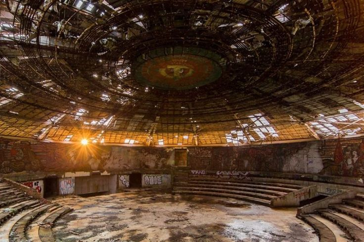 An abandoned congress center of the Bulgarian communist party