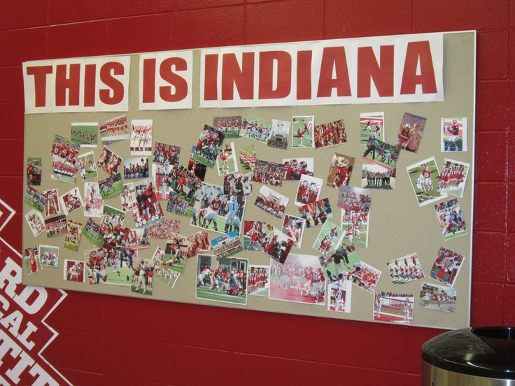 "Inside the ""mud room"" at Indiana Memorial Stadium's North End Zone."