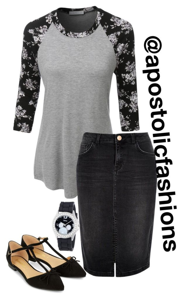 """Apostolic Fashions #1233"" by apostolicfashions on Polyvore featuring LE3NO, River Island, Accessorize and Disney"