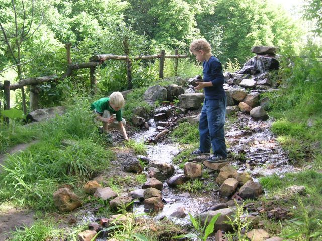 Let the children play creeks in the preschool playscape natural playscapes pinterest - Natural playgrounds for children ...