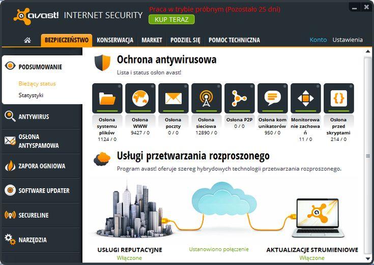 O darmowym avaście słyszała zapewne większość użytkowników Windowsa. Producent tego antywirusa oferuje jednak również bardziej rozbudowane, płatne rozwiązania dla użytkowników indywidualnych i przedsiębiorców. Wypróbowaliśmy jedno z nich - http://di.com.pl/news/48680,8,Testujemy_avast_Internet_Security_Czy_dorownuje_innym_rozwiazaniom_komercyjnym-Anna_Wasilewska-Spioch.html