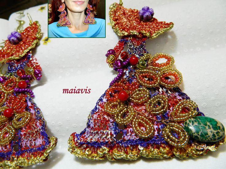 Earrings handmade, original, unique, feminin, women fashion
