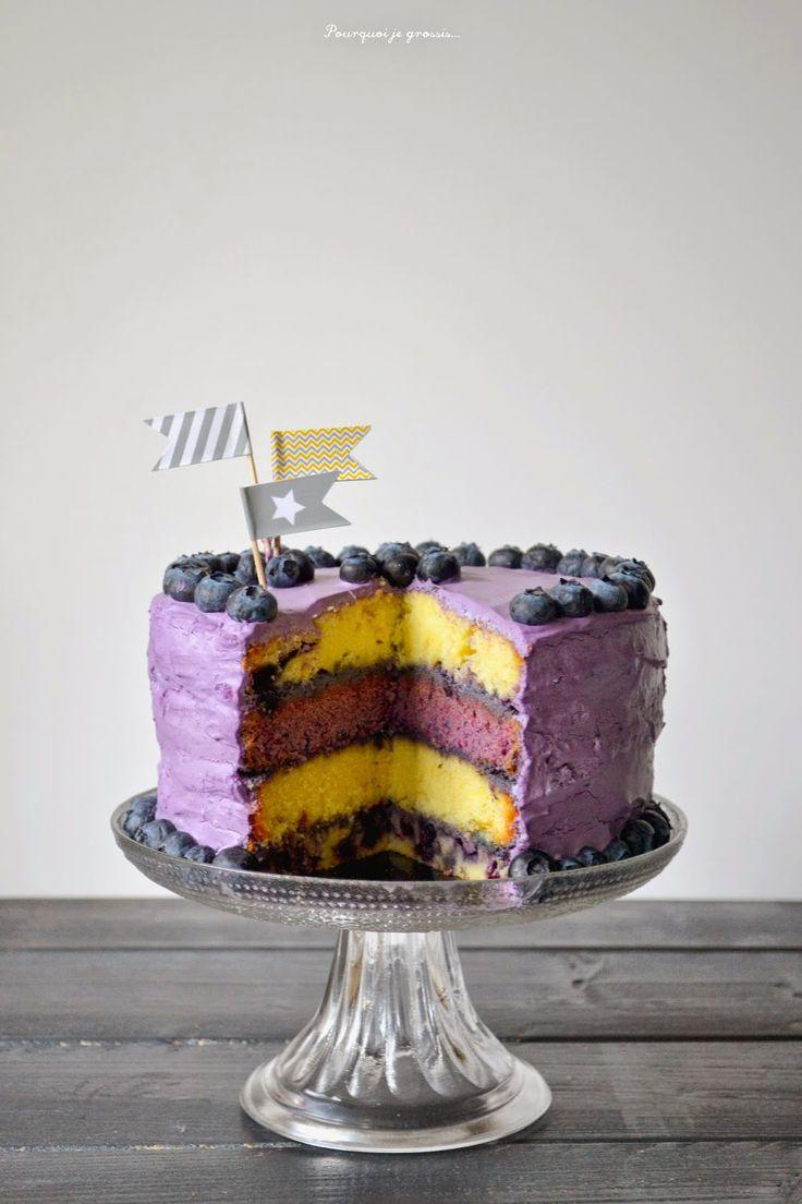 Pourquoi je grossis ...                          : Layer cake aux myrtilles.