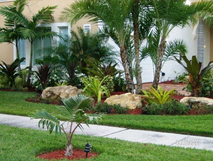 Backyard Palm Tree Landscape Design | Tropical landscaping ... on Backyard Landscaping Ideas With Palm Trees id=86041