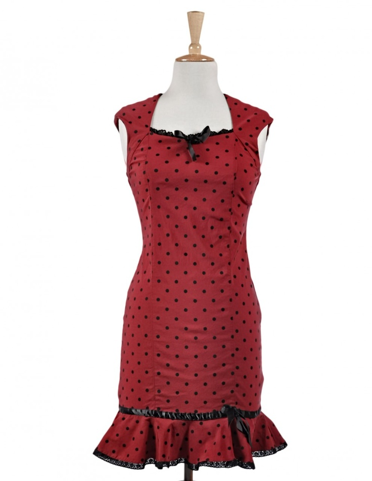 The Bettie Dress in Romantic Red!