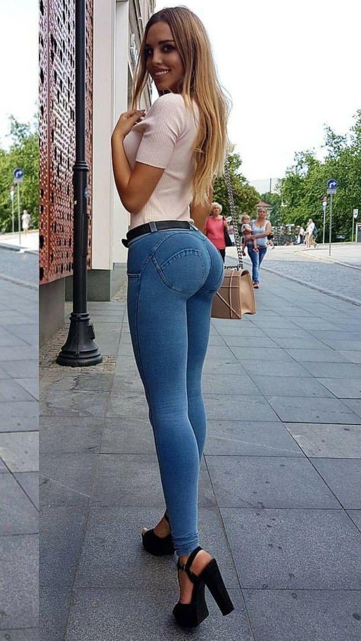телочка в обтягивающих джинсах так оно было