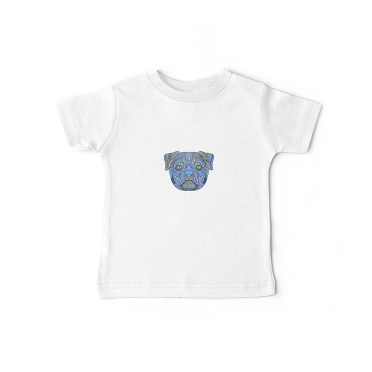 """""""Snuggly Pug"""" by I Love the Quirky - Baby Tee, available in a variety of colours"""