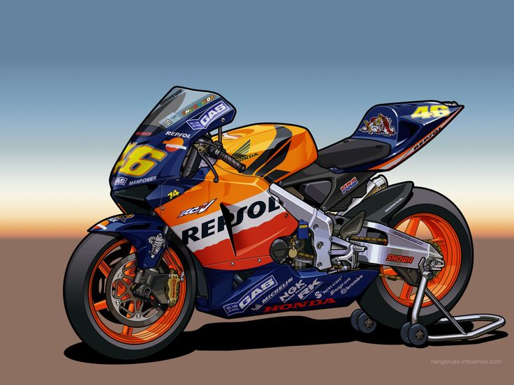 Honda RC211V - Vector by dangeruss.deviantart.com on @DeviantArt