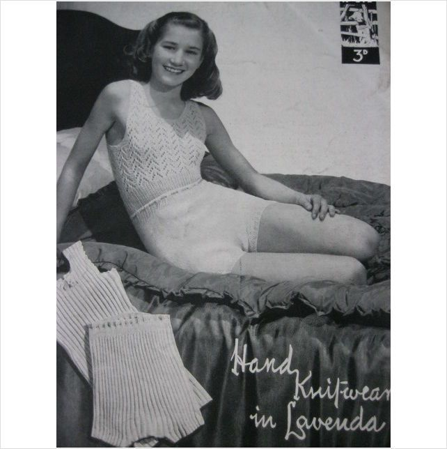 Vintage knitted underwear