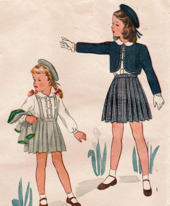 1940s Simplicity 1242 FF Vintage Sewing Pattern by midvalecottage, $12.00