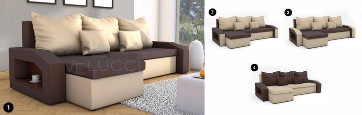 ECKSOFA - EXTREME mit Schlaffunktion  Viele Farben und Kombinationen verfügbar!  #sofa #sofamitschlaffunktion #ecksofa #eckcouch #couchgarnitur #wohnzimmer #couchgarnituren #polstergarnitur #polstergarnituren