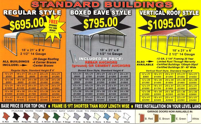 Metal Carport Prices | Steel Carport Prices | Alan's Factory Outlet