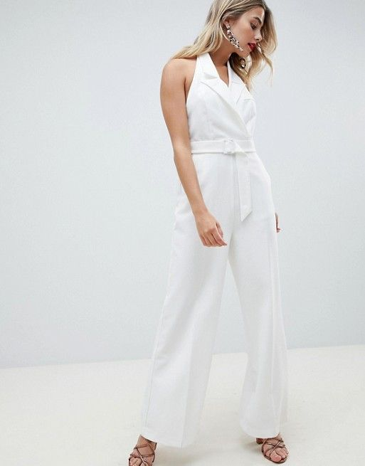DESIGN – Jumpsuit im Smoking-Look mit weitem Bein   Bridal Couture ... 12d986d6fe