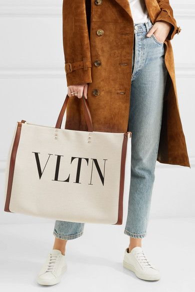 84de579fe #Valentino   Valentino Garavani Plage large leather-trimmed printed canvas  tote   NET-A-PORTER.COM