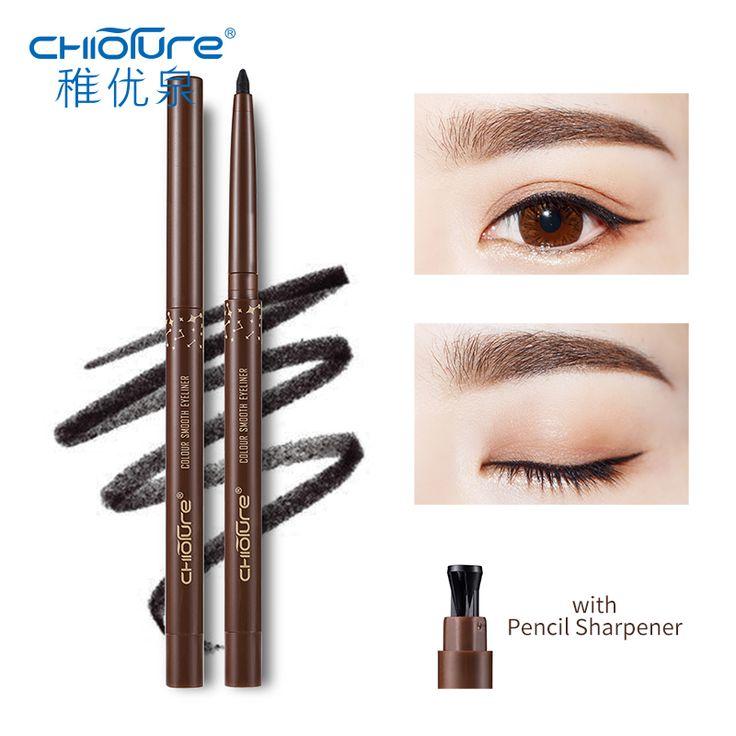 Only $4.39 , CHIOTURE 3 Color Waterproof Gel Eyeliner Pencil with Sharpener Eye Liner Makeup Make Up Delineador Caneta Lapis de Olho Crayon