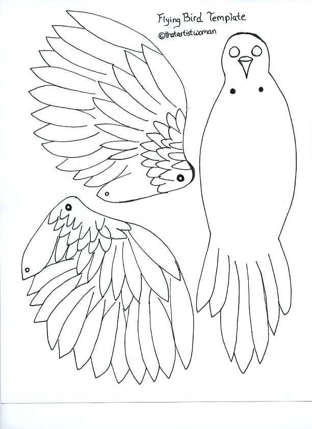 Articulated Bird Template That Artist Woman