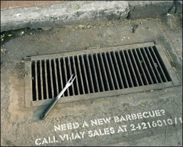 Guerrilla Marketing for a barbecue. Brought to you by ShopletPromos.com - promotional products for your business.