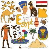 Collection of Egypt icons
