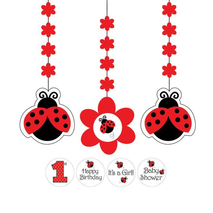 Ladybug Fancy Hanging Cutouts