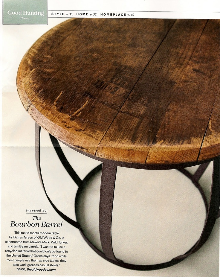 Bourbon Barrel Table 55 best Bourbon Barrel