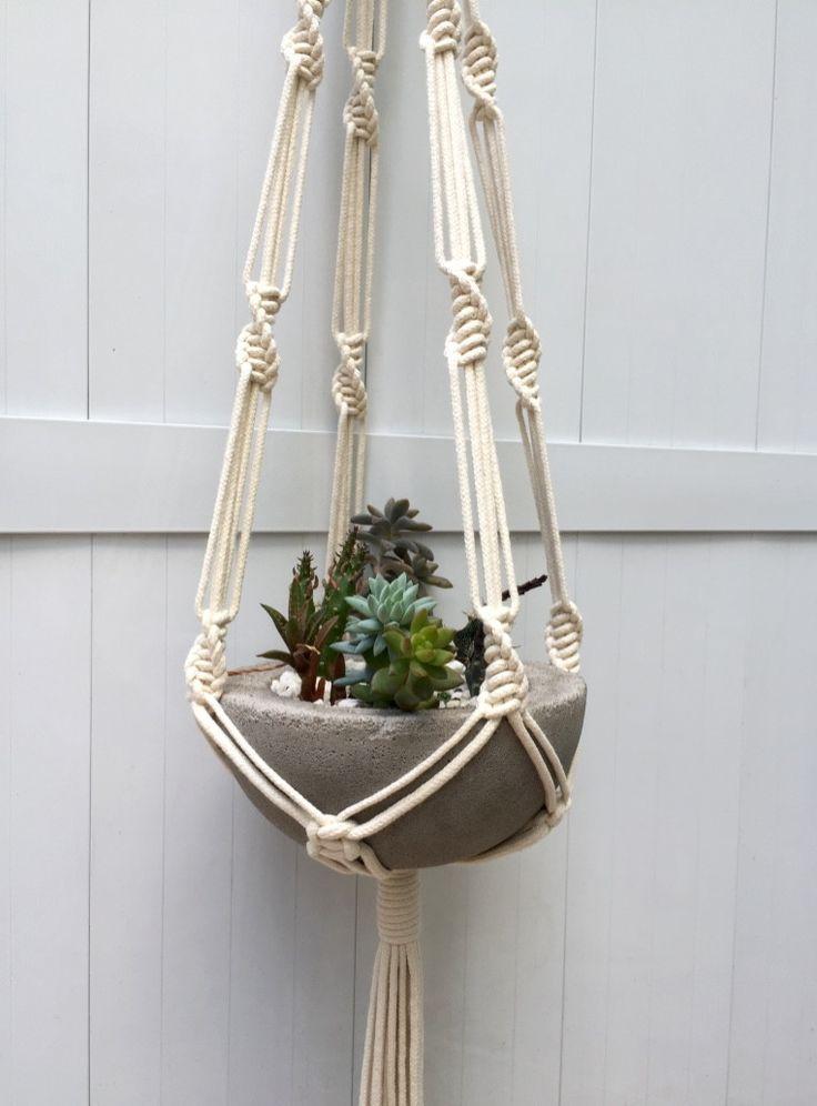 25 melhores ideias sobre cabides de macram para plantas no pinterest macram suportes de - Pedestal para plantas ...