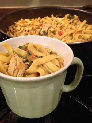 Domestically Dreaming...: Curry Chicken Noodle Soup