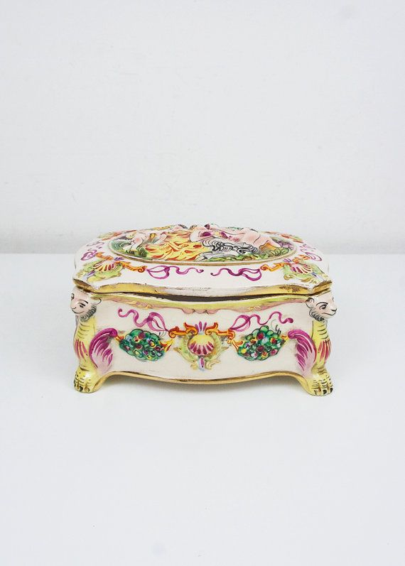 Jahrgang Capodimonte Feld italienische Keramik von FlorenceMercato