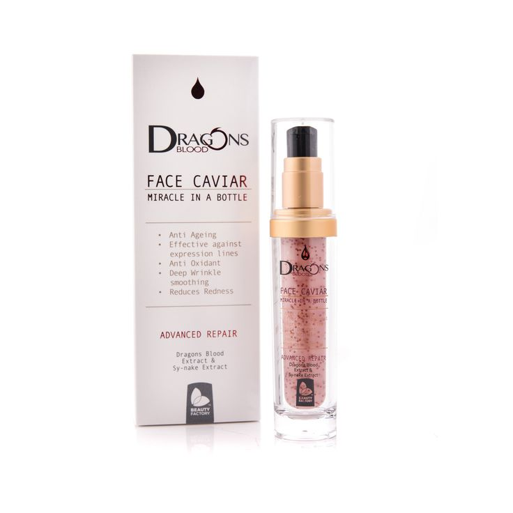 Dragons Blood Face Caviar Serum ANTI-AGING FACE CAVIAR    Dragon's Blood face caviar is an anti-aging formula that helps to volumise and defines facial contours.  Dragon's Blood Face Caviar contains the ingredient dragon's blood which is sourced from the red sap of the 'sangre de drago' tree. This soothing ingredient protects against environmental damage and contains anti-inflammatory properties to calm stressed skin. GoodiesHub.com