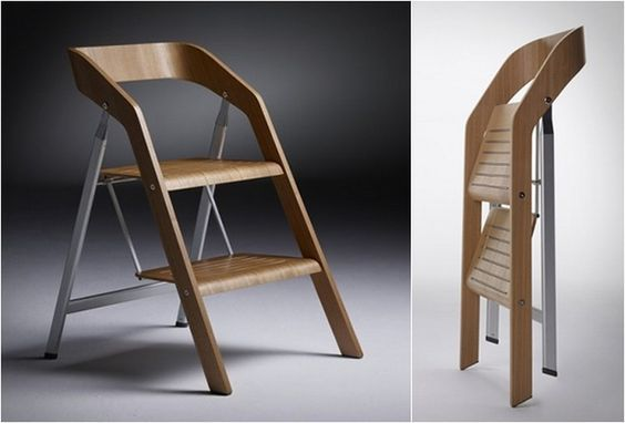 Оригинальный стул-стремянка в сложенном состояние