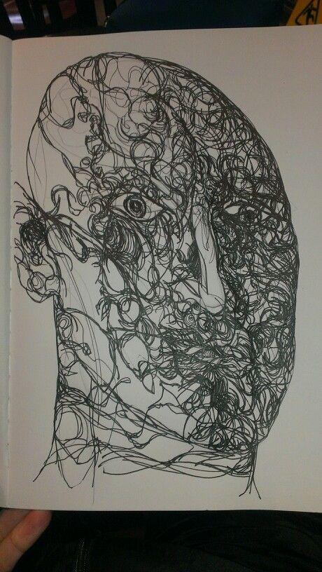 Pen drawing #sketchbook work#