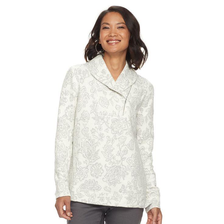 Women's Croft & Barrow® Shawl Collar Sweater, Natural