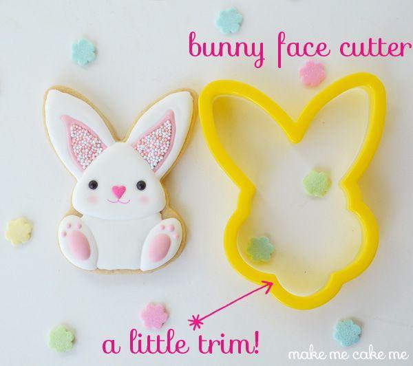 Sprinkle-y Pink Easter Bunny Cookies | Make Me Cake Me