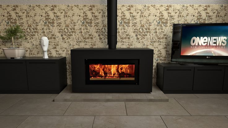 Stovax Studio 2 Clean Air Wood Fire in Freestanding Zero Clearance Box