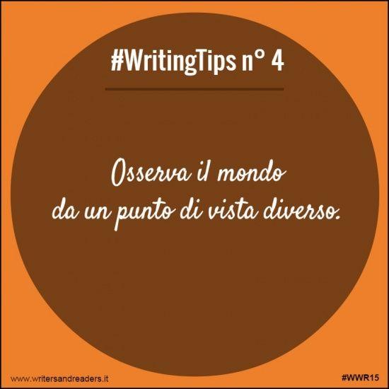 Osserva il mondo da un punto di vista diverso. #writingtips