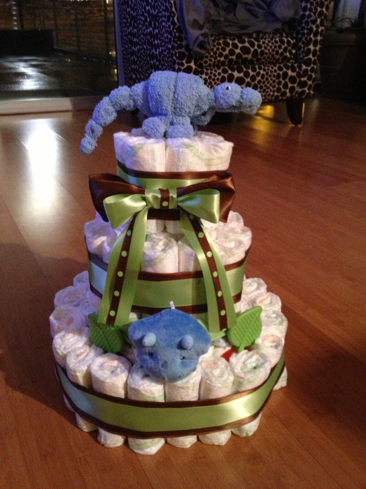 1000 Images About Dino Diaper Cake On Pinterest