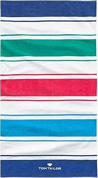 Strandtuch, Tom Tailor, »Stripes«, mit Farbstreifen