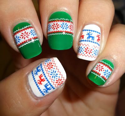 Wendy's Delights: Sparkly Nails Xmas Jumper Water Decals