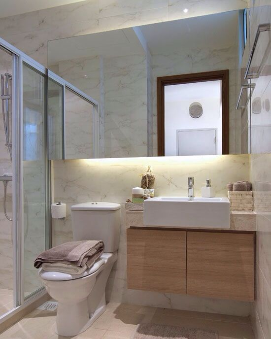 Hdb bathroom dream home pinterest toilets under for Small wc room design