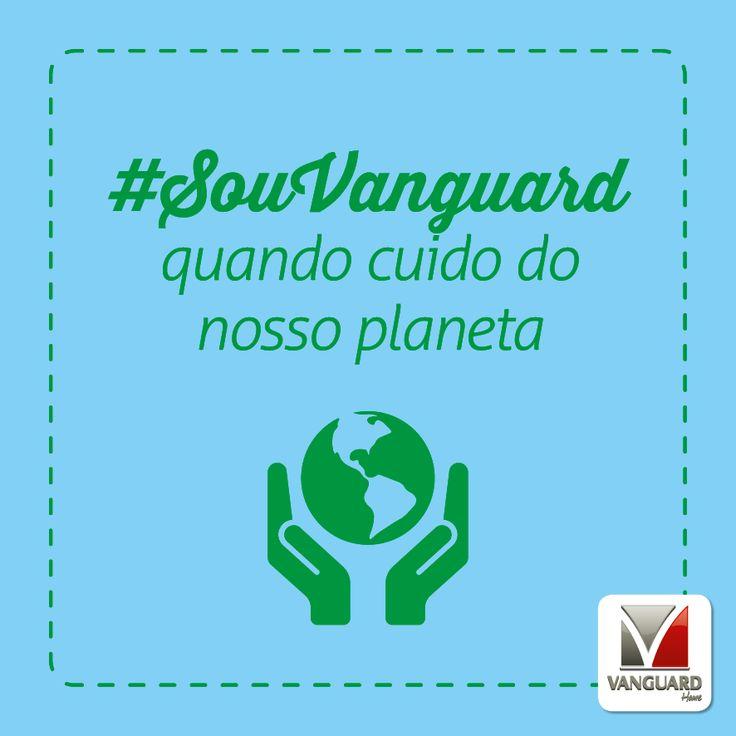 22 de Abril é o Dia do Planeta Terra! Um bom dia para refletirmos sobre as nossas atitudes em relação à saúde do planeta. O que você está fazendo para cuidar do nosso planeta? Pequenas atitudes no nosso dia-a-dia, como separar o lixo e não desperdiçar água, podem contribuir para um mundo muito mais saudável e melhor! Se você cuida do nosso planeta, compartilhe! #SouVanguard #DiaDoPlaneta