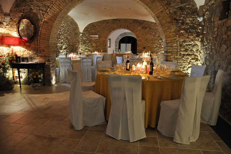 Our Medievale Cellar!Here our Brunello wine used to age for centuries...and now, it makes just the perfect place for your wedding reception. Cosy! #weddingTuscany #weddinglocation #weddingItaly