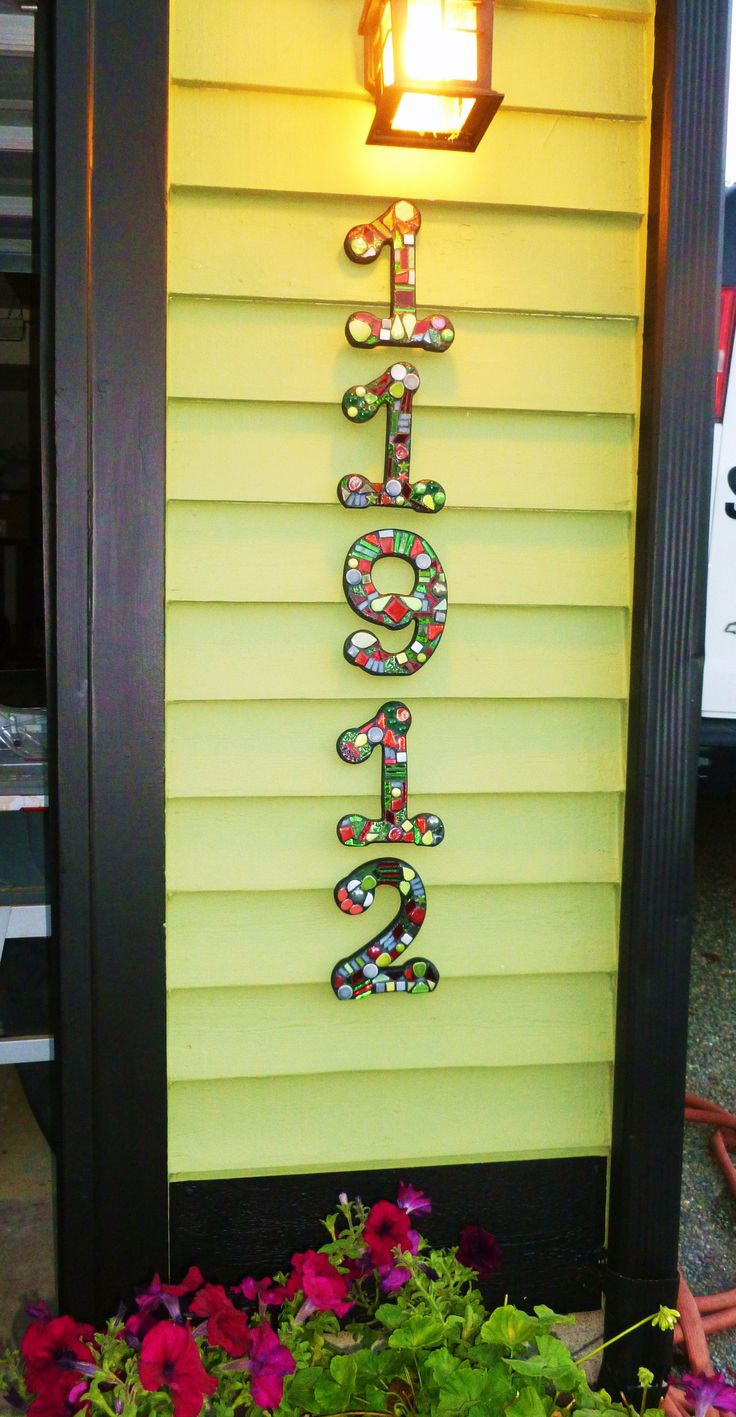 CUSTOM Mosaic House Numbers Finished Orders